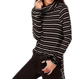 We The Free Kristen striped thermal turtleneck